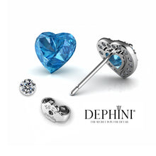 Load image into Gallery viewer, blue Heart Stud Earrings