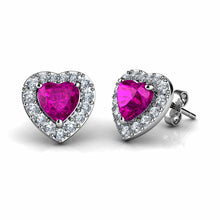 Load image into Gallery viewer, Pink Heart Earrings