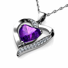 Load image into Gallery viewer, Purple Heart Necklace