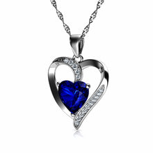 Load image into Gallery viewer, Shappire Heart Necklace