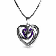 Load image into Gallery viewer, Purple Heart Pendant necklace