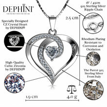 Load image into Gallery viewer, Elegant Necklace - 925 Sterling Silver Jewellery Heart Pendant Dephini