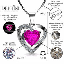 Load image into Gallery viewer, pink heart necklace