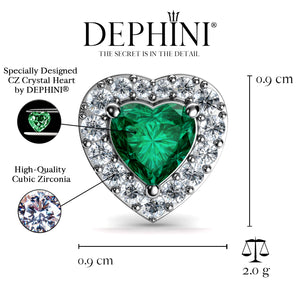 Green Heart stud