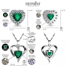 Load image into Gallery viewer, Green Jewellery hearts