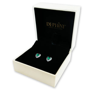 Green Heart Earrings jewellery