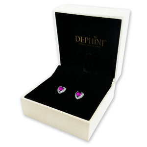 Luxury Pink Heart Earrings