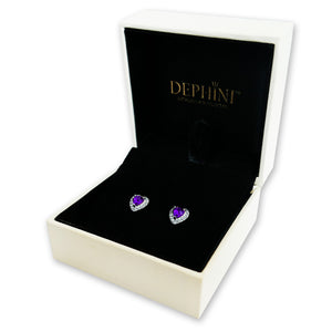 Purple stud Earrings for women