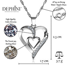 Load image into Gallery viewer, Heart necklace for women