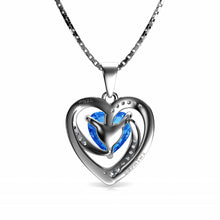 Load image into Gallery viewer, Blue heart pendant