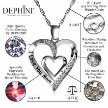 Load image into Gallery viewer, I love you Mom Pendant