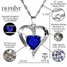 Load image into Gallery viewer, Blue Heart Necklace