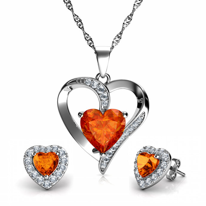 Orange jewellery set