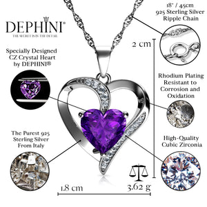 Heart Purple Necklace