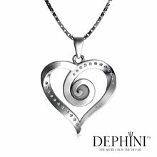 Load image into Gallery viewer, heart Spiral necklace