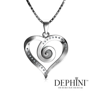 heart Spiral necklace