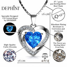 Load image into Gallery viewer, Blue heart necklace pendant