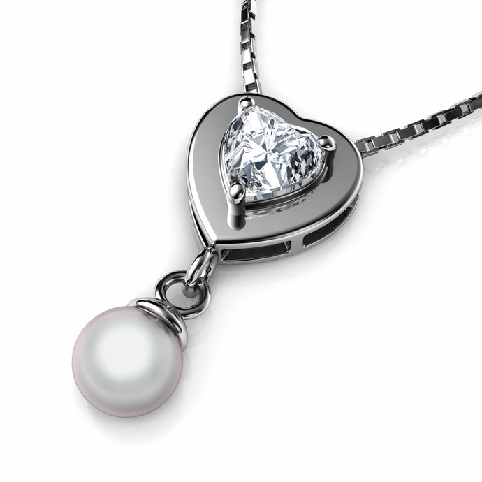 Small Heart Pearl Necklace