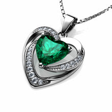 Load image into Gallery viewer, Green Heart Necklace