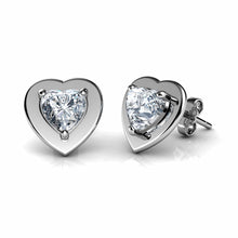 Load image into Gallery viewer, Heart earrings set
