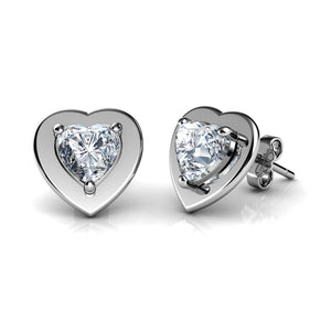 Heart earrings set