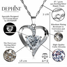 Load image into Gallery viewer, CZ Heart pendant