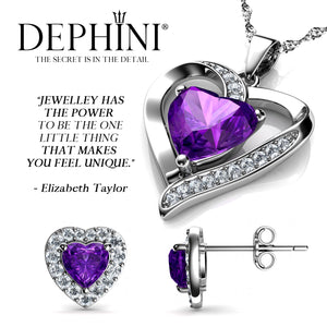 Purple heart jewellery Set