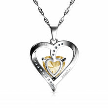 Load image into Gallery viewer, Yellow Heart pendant