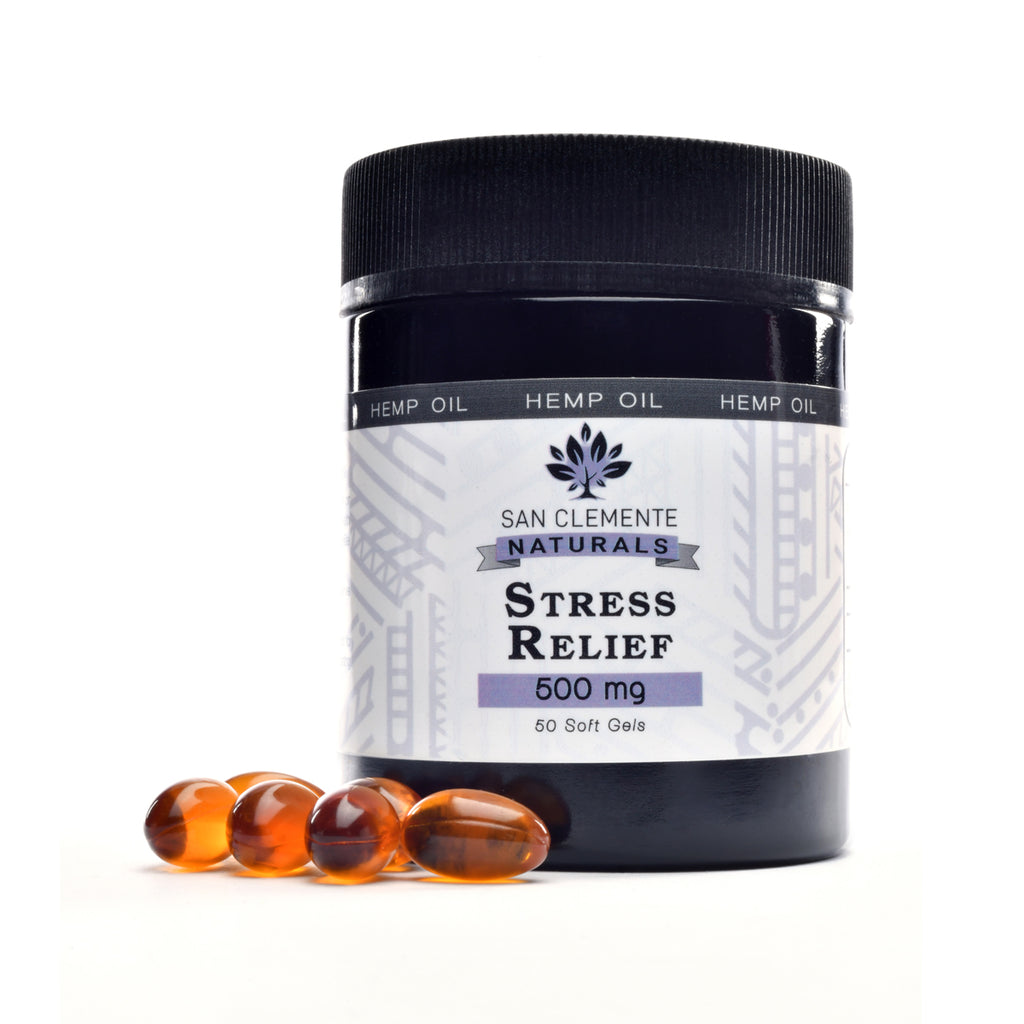 San Clemente Naturals Stress Relief 500 mg Full Spectrum Hemp Extract Softgels