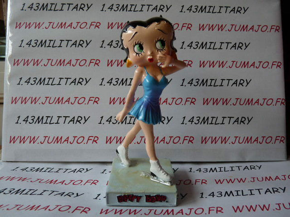 BB10 figurine Betty boop resine en blister MIB 12 cm environ : patineuse à glace