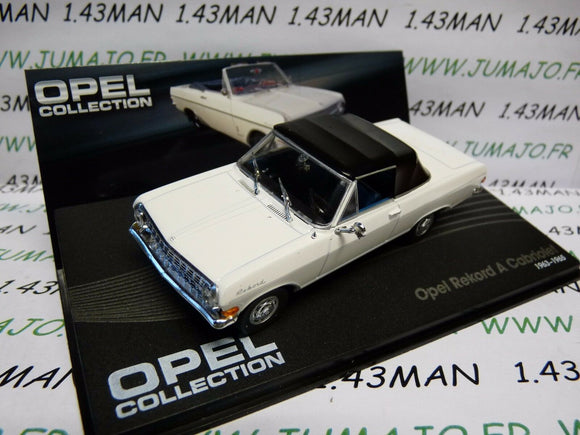 OPE67R voiture 1/43 IXO OPEL collection : REKORD A cabriolet 1963/1965 blanche