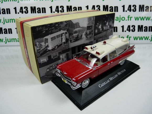 AMB2 1/43 IXO atlas AMBULANCE COLLECTION CADILLAC Miller Meteor 59 ghostbuster