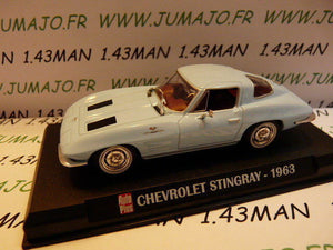 AP9 Voiture 1/43 IXO AUTO PLUS : CHEVROLET Stingray 1963