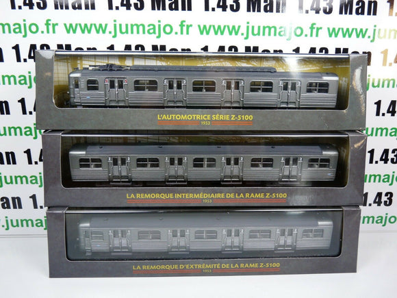 Lot 4AM AM7+8+9 Automotrices SNCF 1/87 train HO rame Z 5100 zbd 5101 15101 25201