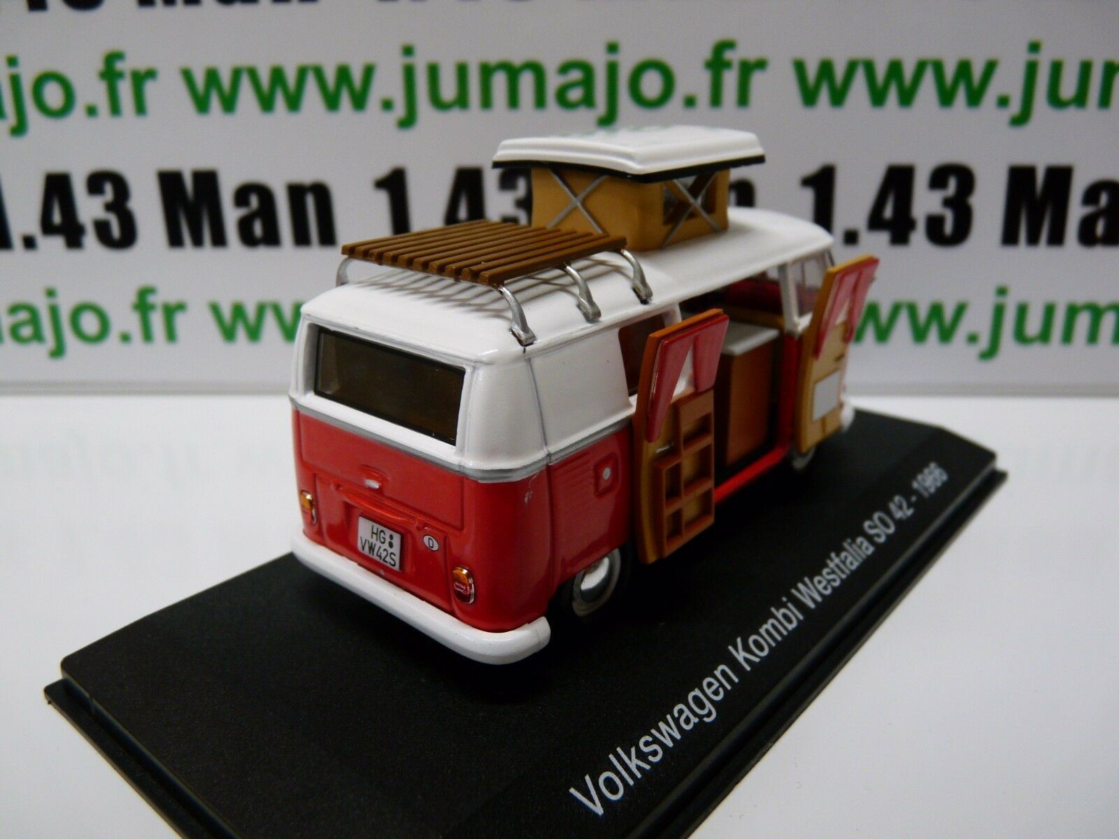 CC3 1//43 camping cars hachettes TEST ITALIE VOLKSWAGEN  Kombi T1 Westfalia SO 42