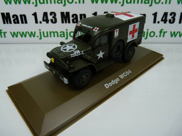BLZ atlas IXO 1/43 Blindés WW2 : Dodge WC54 croix rouge ambulance red cross