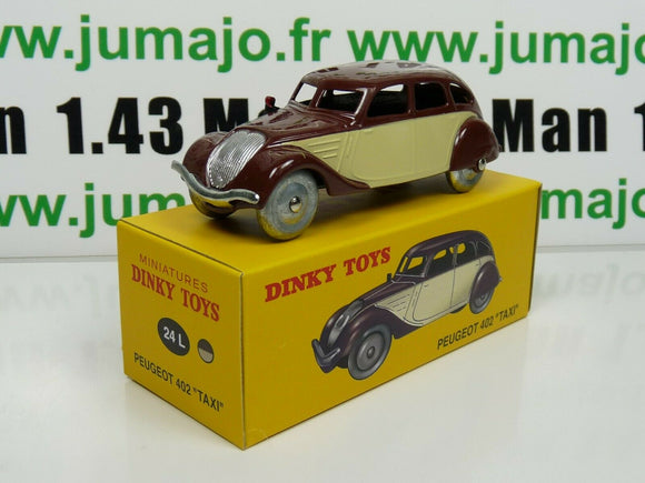 FA0B voiture 1/43 réédition DINKY TOYS DeAgostini : PEUGEOT 402 Taxi