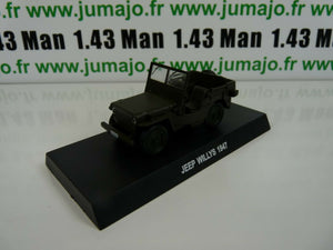 CR21 voiture 1/43 CARABINIERI : JEEP WILLYS 1947