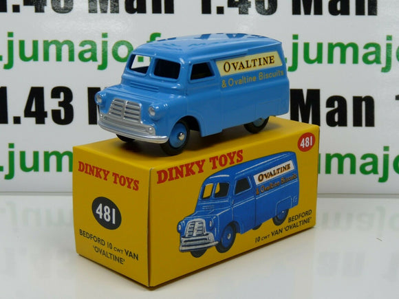 DT27E Voiture réédition DINKY TOYS atlas: 481 Bedford 10 Van Fourgon Ovaltine UK