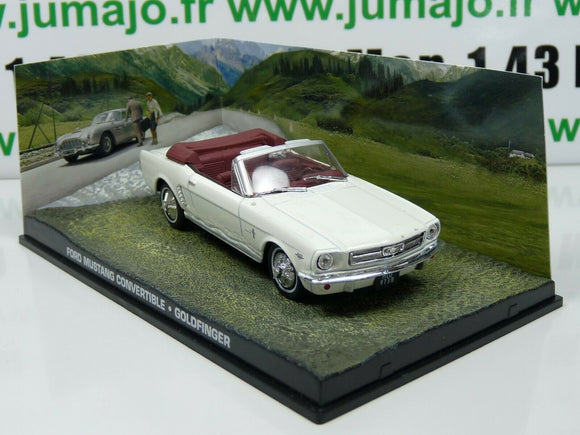 JB35E voiture 1/43 IXO 007 JAMES BOND : FORD MUSTANG Convertible blanche
