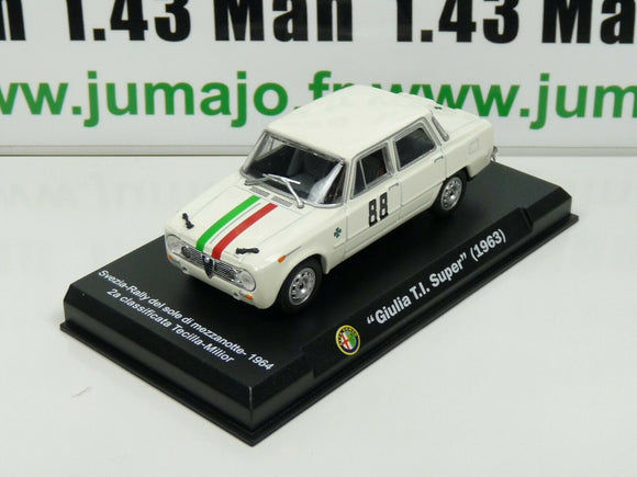 IT86N Voiture 1/43 Hachette ALFA ROMEO collection : Giulia TI Super 1963