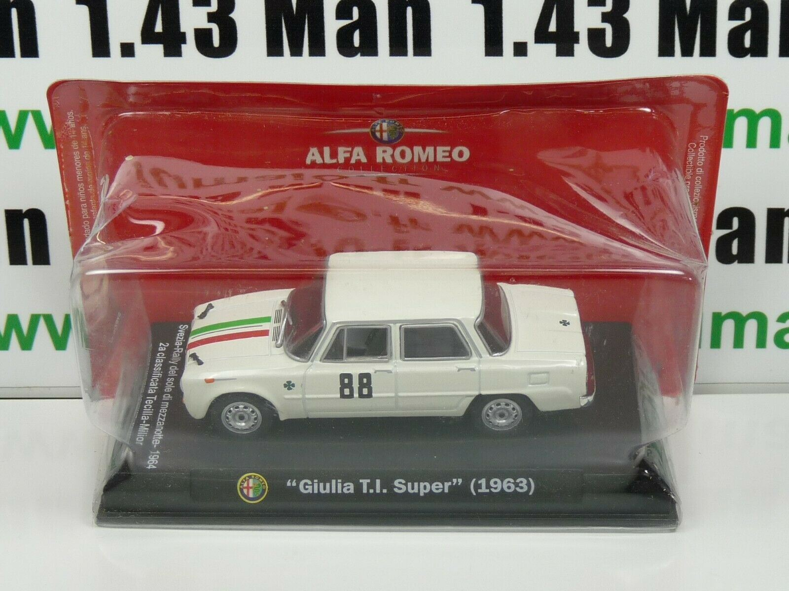 Giulia TI Super 1963 IT86N Voiture 1//43 Hachette ALFA ROMEO collection
