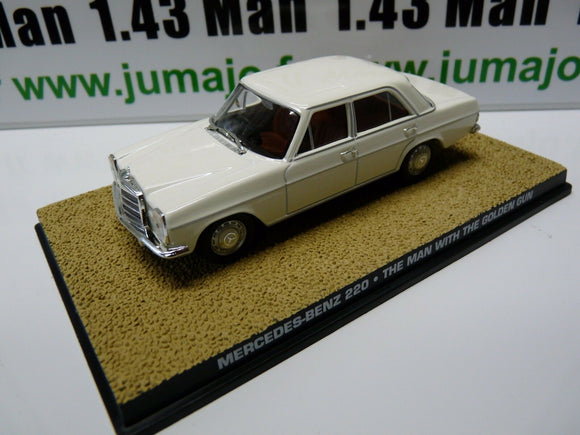 JB112 voiture 1/43 IXO 007 JAMES BOND : Mercedes Benz 220 Homme au Pistolet d'or