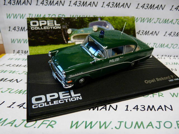 OPE102 voiture 1/43 IXO eagle moss OPEL collection REKORD PI polizei 1957/1960