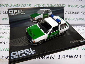 OPE69 voiture 1/43 IXO OPEL collection : CORSA A 1982/1993 POLIZEI police