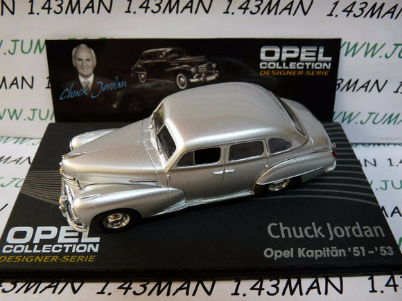 OPE134R 1/43 IXO designer serie OPEL collection : KAPITAN 51/53 Chuck JORDAN