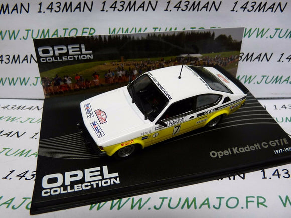 OPE89 voiture 1/43 IXO OPEL collection : KADETT C GT/E Monte Carlo 1978 #7