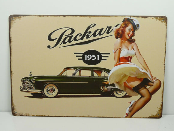 PB88N PLAQUES TOLEE vintage 20 X 30 cm : Pin'up Packard 1951
