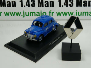 RE55/73 lot voiture 1/43 Eligor renault 4 CV TYPE R 1063 1953 + insigne