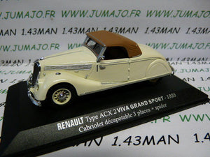 RE9E 1/43 M6 Universal Hobbies / norev  RENAULT Viva grand sport ACX 2 1935